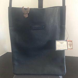 Harley Davidson black leather crossbody bag NWT